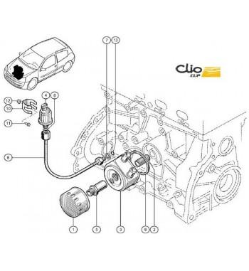 Refrigerador Aceite/ agua Gr.A 75mm Clio Williams / 16V R19